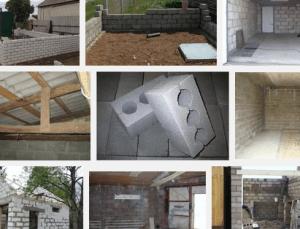 Строительство гаража, какие материалы используются