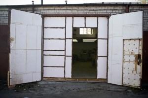Утепление гаражных металлических дверей
