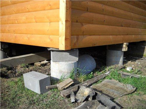 Столбчатый фундамент под гараж