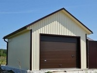 Андулиновая крыша гаража