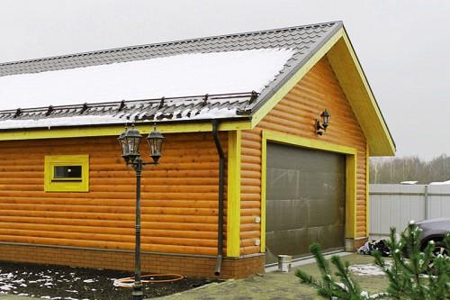 Конструкция двускатной крыши гаража