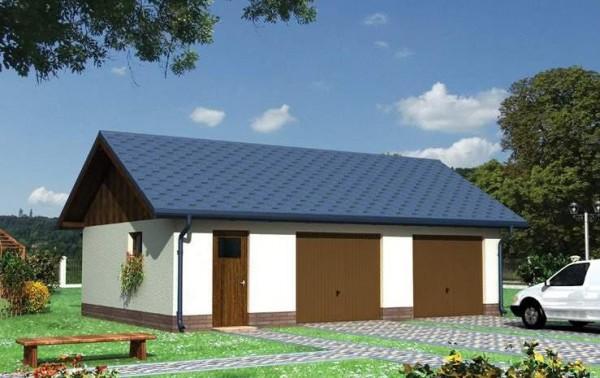 Пример двускатной крыши гаража