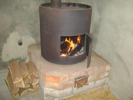 Отопление буржуйкой гаража