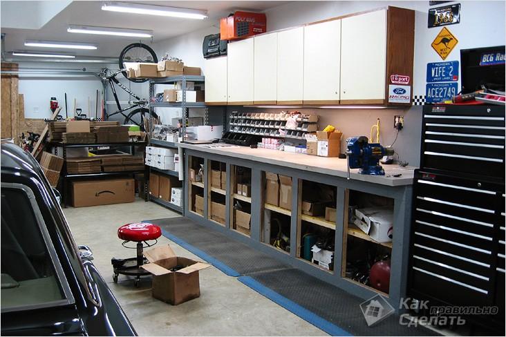Оборудование гаража своими руками