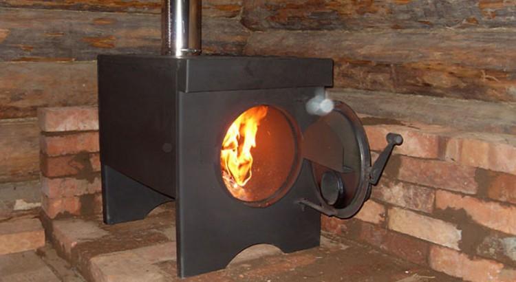 Печки на дровах для гаража своими руками фото