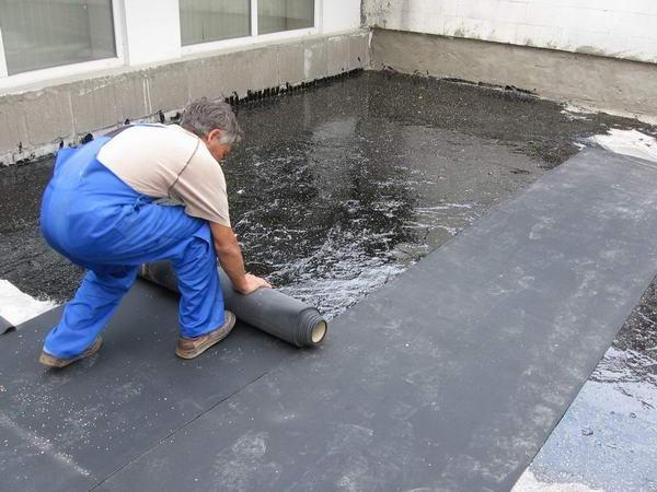 Покрытие гаража крыши рубероид