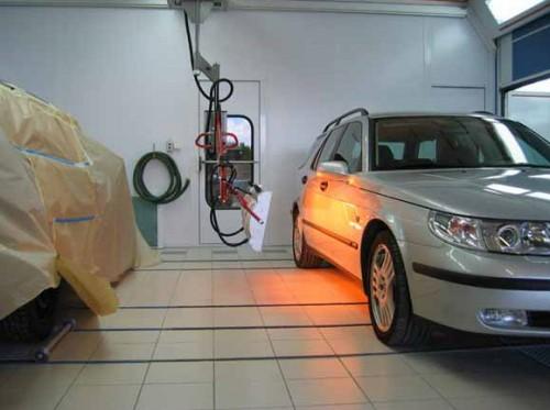 Сушка автомобиля инфракрасной лампой