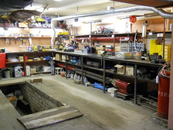 Устройство гаража под автомастерскую
