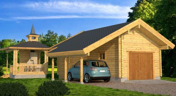 Проект деревянного гаража