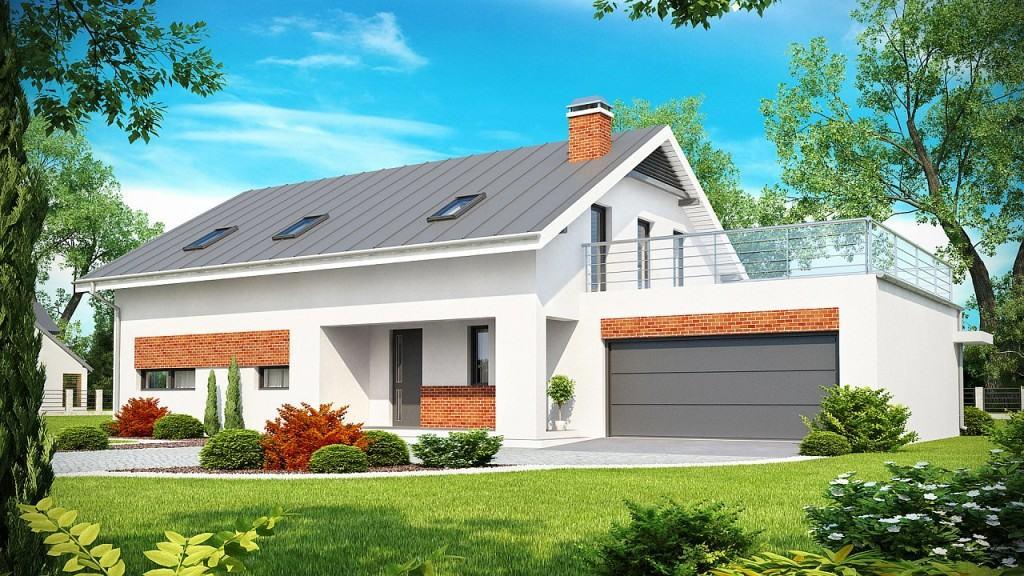Дом с пристроенным гаражом
