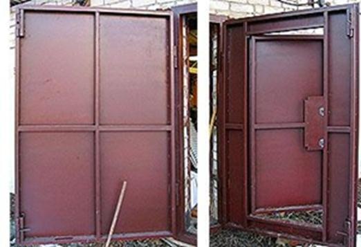 Гаражные двери металлические