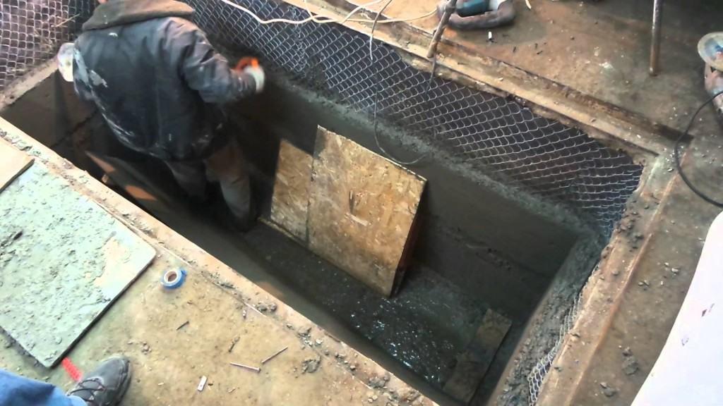 Гидроизоляция ямы бетоном