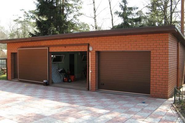 Использование откатных гаражных ворот