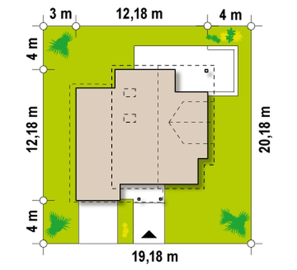 Общий план участка с указанием подъезда к гаражу