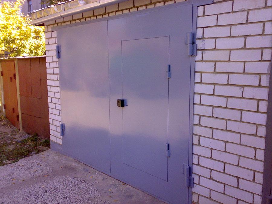 Купить ворота гаражные металлические