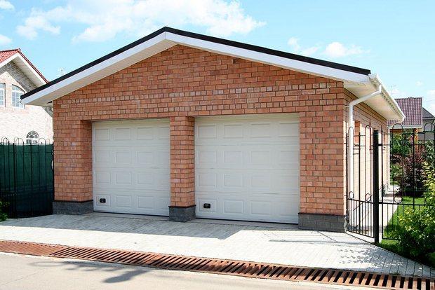 Проект гаража из кирпича