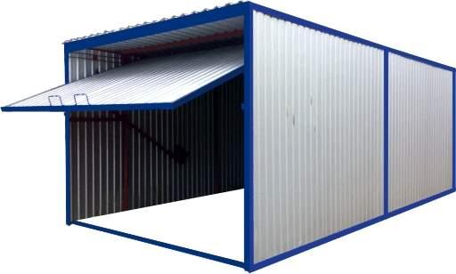Секционный металлический гараж