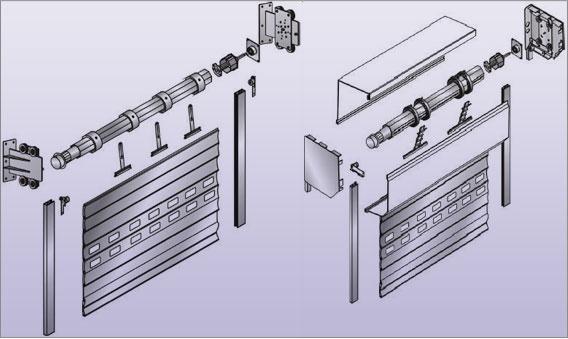 Схема устройства рулонных ворот