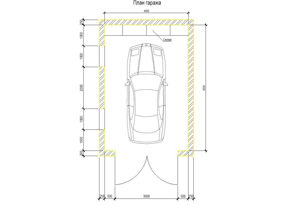 Составляем план гаража