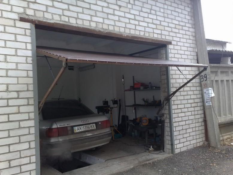Ворота в гараже своими руками фото