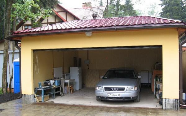 Утепление стен гаража пенопластом