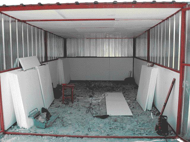 Железный гараж утеплить