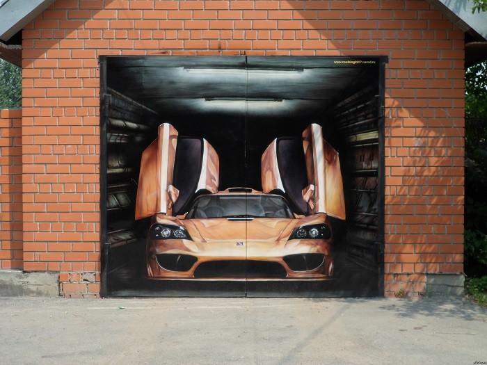 3d рисунки воротах гаража
