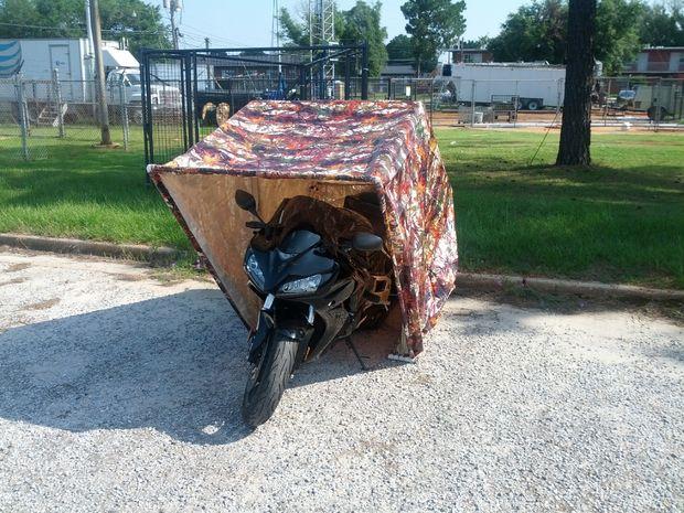 Гараж ракушка для мотоцикла