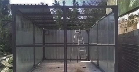 Крепление профнастила на каркас гаража