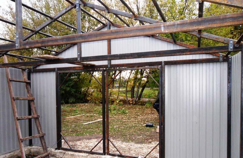 231Как построить дом из металлопрофиля своими руками