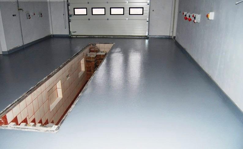 Покраска бетонного пола в гараже