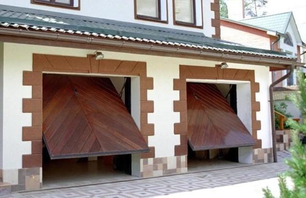 Поворотные ворота гаражные