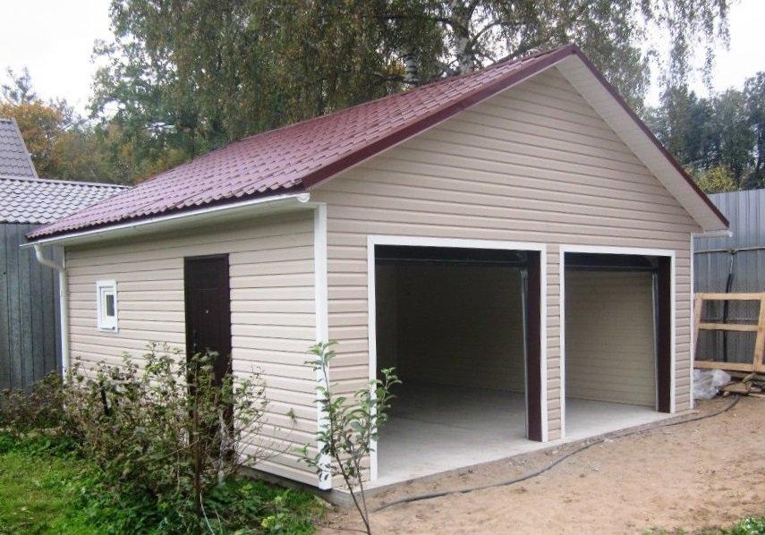 Пример гаража для двух автомобилей
