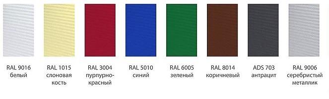 Цветовые решения для ворот Алютех