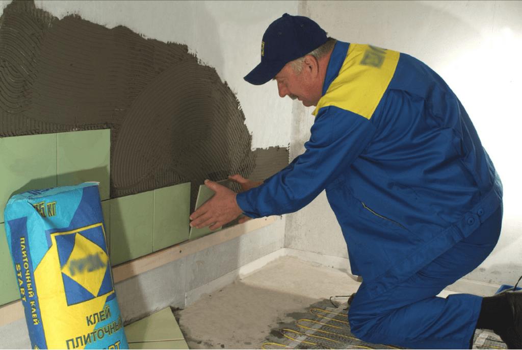 Укладка плитки – долгий и трудоёмкий процесс
