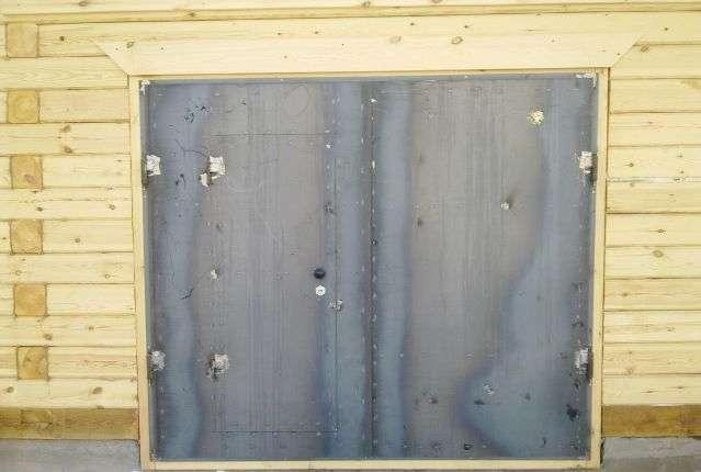 Замена петель для створок гаражных ворот