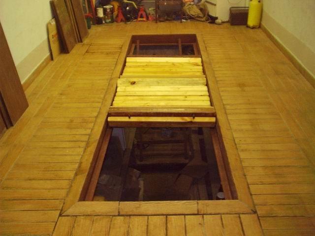 Фото деревянного пола в гараже