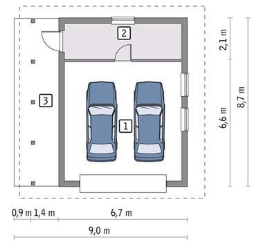 Гаражные ворота размеры минимальные для двух машин