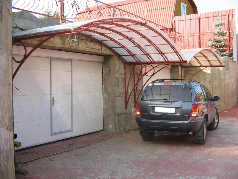 Козырьки над воротами гаража