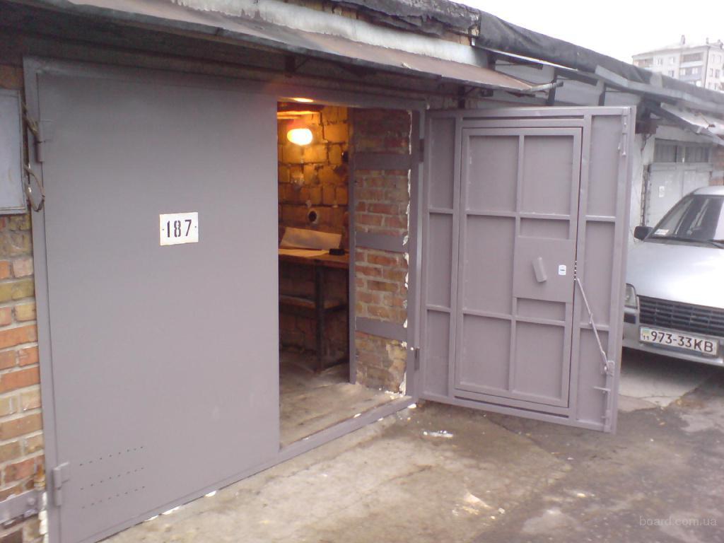 Металлические ворота для гаража своими руками