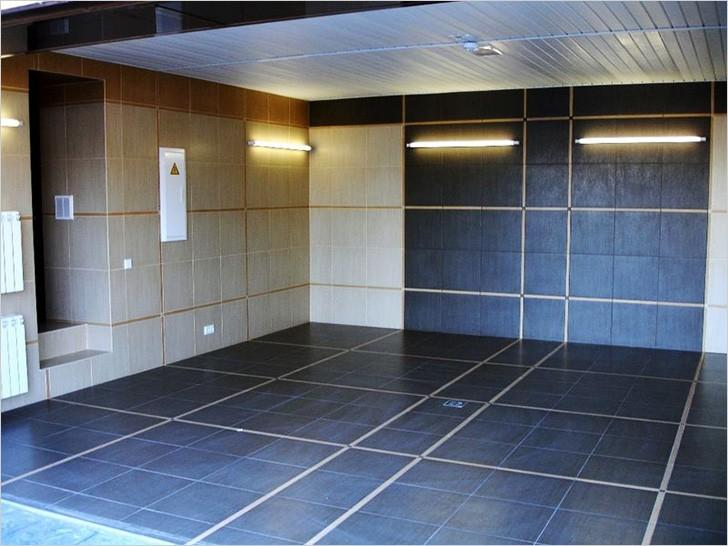 Отделка гаража керамической плиткой