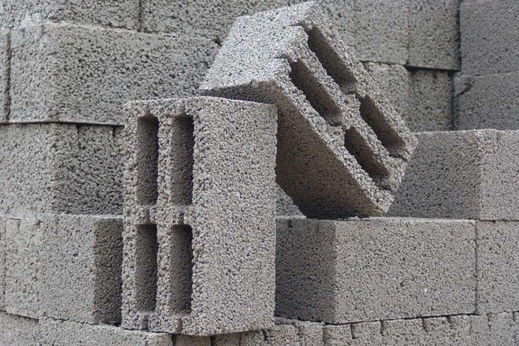 Пример стандартного керамзитобетонного блока