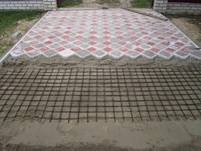 Тротуарная плитка для гаража своими руками 30