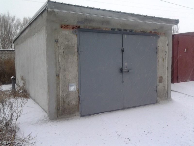 Пример железобетонного гаража