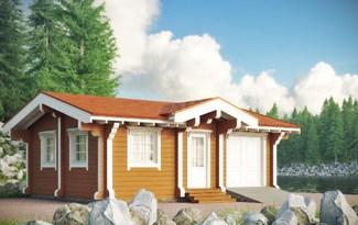 Проект дома в стиле шале с гаражом