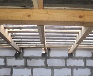 Устройство балок для крыши