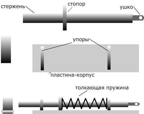 Устройство замка из профильной трубы