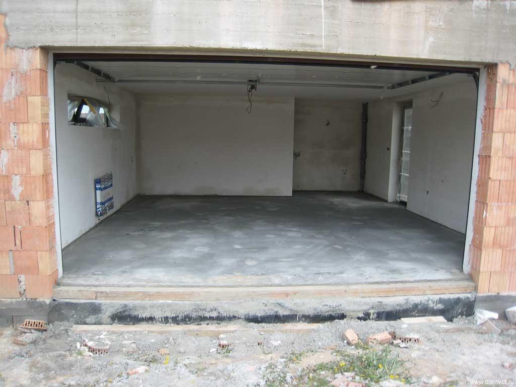 Бетонный пол в гараже своими руками