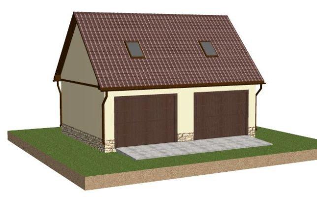 Двухэтажный гараж с мансардой