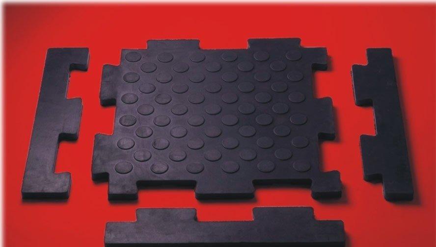Элементы укладки модульной резиновой плитки